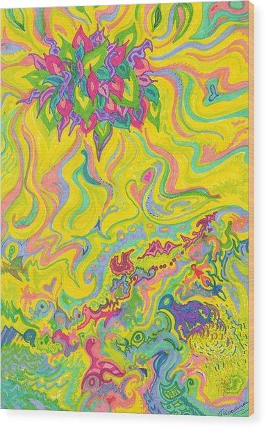 Dreamscaped Swamp-garden 1 Wood Print