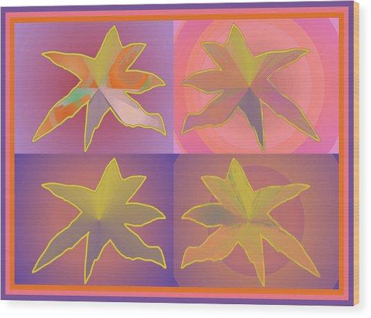 Dreamtime Starbirds Wood Print