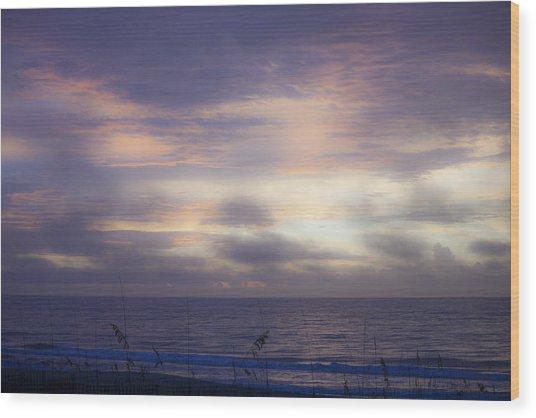 Dreamy Blue Atlantic Sunrise Wood Print