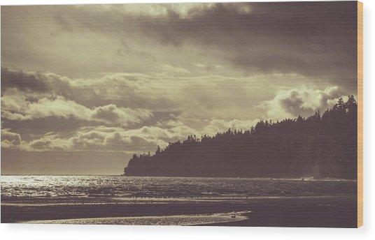 Dreamy Coastline Wood Print