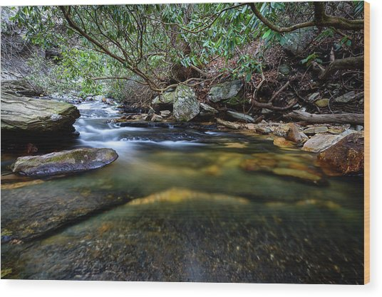 Dreamy Creek Wood Print