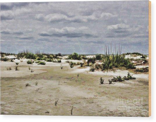 Dreamy Sand Dunes Wood Print