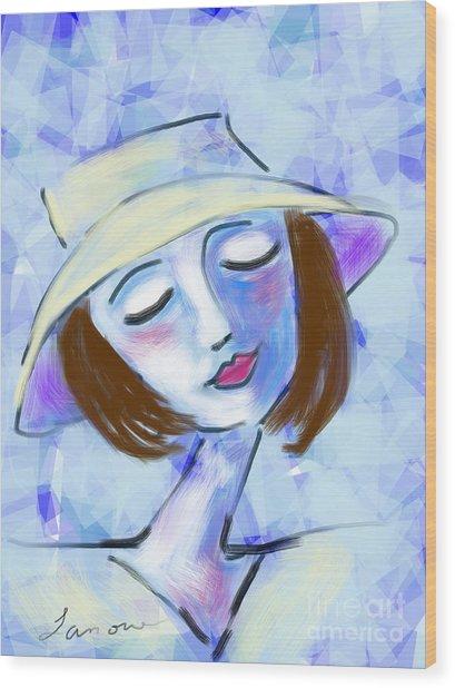 Dreamy Jeanne Wood Print