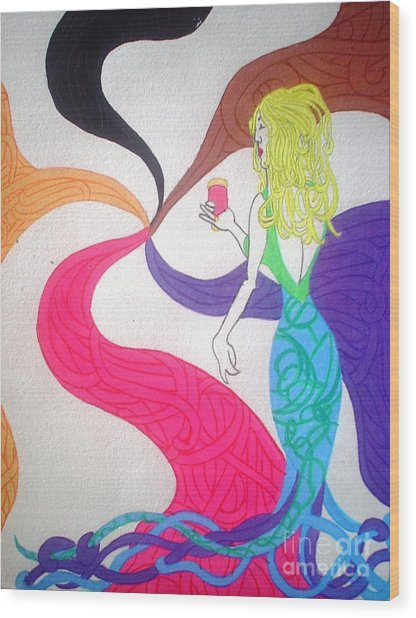 Dreamy Mermaid Wood Print