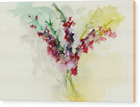 Dreamy Orchid Bouquet Wood Print