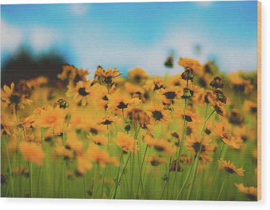 Dreamy Summertime Wood Print