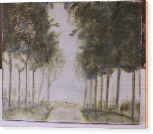 Dreamy Walk Wood Print by Karla Phlypo-Price