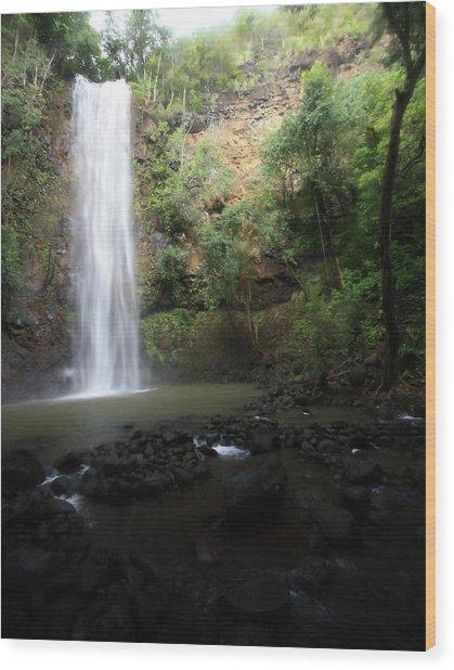 Dreamy Waterfall Wood Print