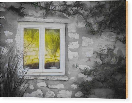 Dreamy Window Wood Print