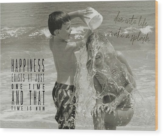Drenched Quote Wood Print by JAMART Photography