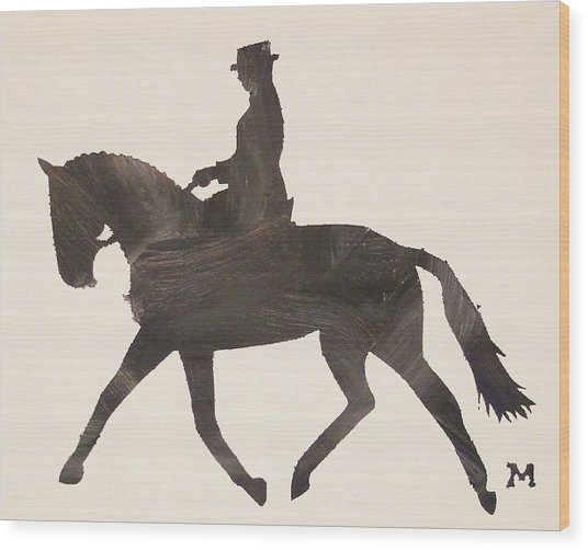 Dressage At Downton Wood Print