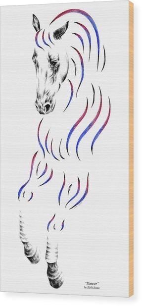 Dressage Horse Dancer Print Wood Print