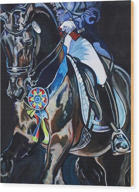 Dressage Stallion Wood Print