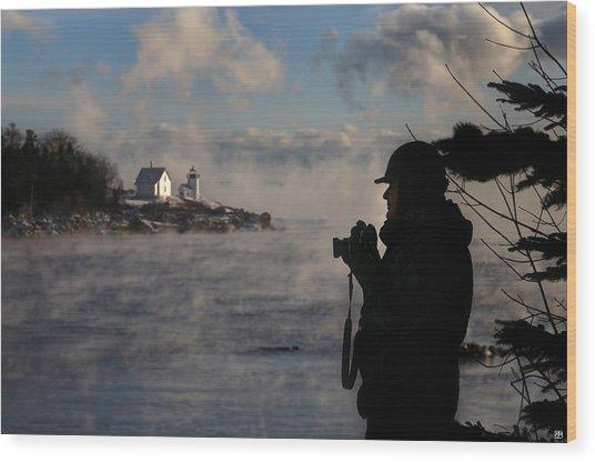 Dressed For Sea Smoke Wood Print