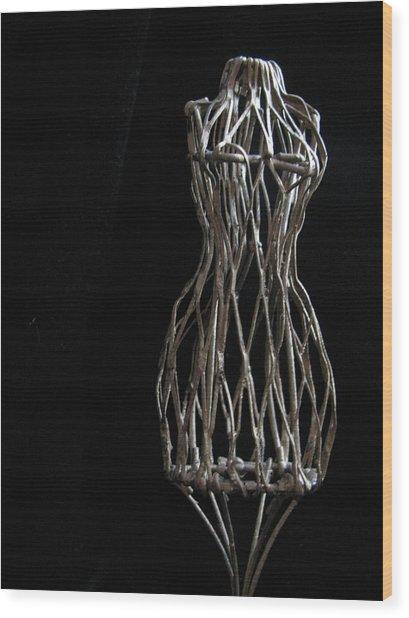 Dressmaker Form Wood Print by Lindie Racz