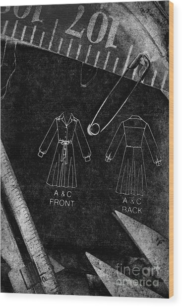 Dressmaking Handiwork Wood Print