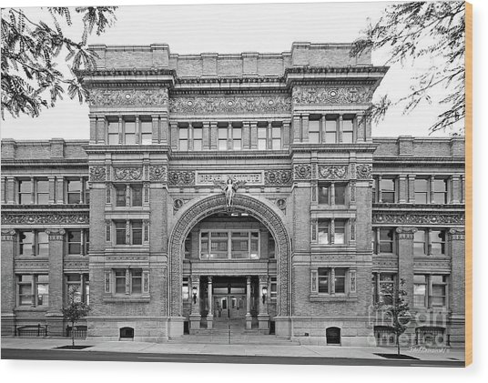 Drexel University Main Building Wood Print