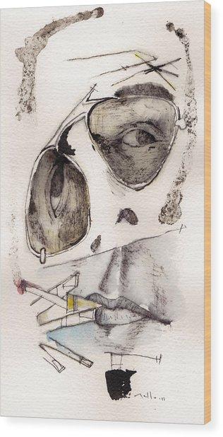 Dr.gonzo As Hunter S. Thompson Wood Print