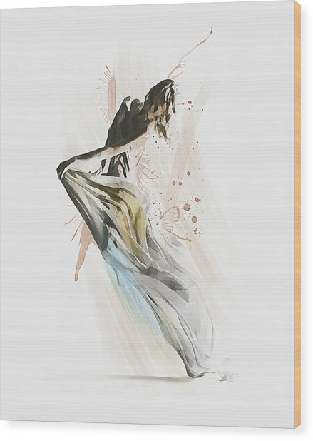 Drift Contemporary Dance Wood Print