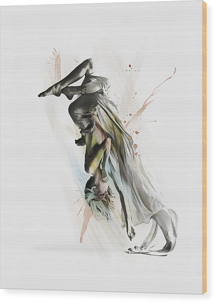 Drift Contemporary Dance Two Wood Print