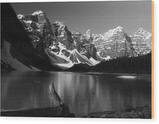 Drift Wod On Lake Moraine Wood Print