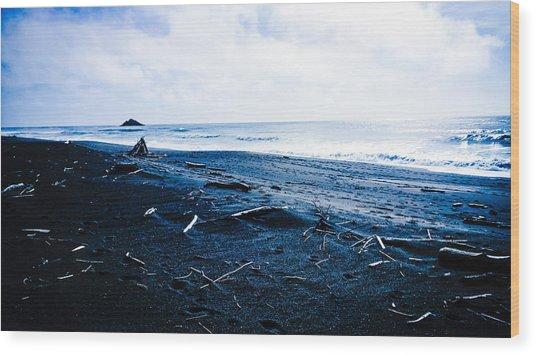 Driftwood Beach Wood Print