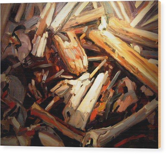 Driftwood Wood Print by Brian Simons