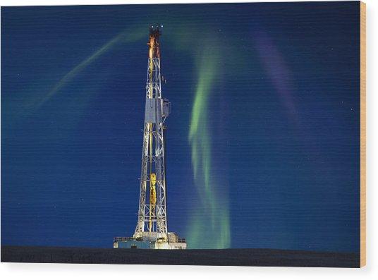 Drilling Rig Saskatchewan Wood Print