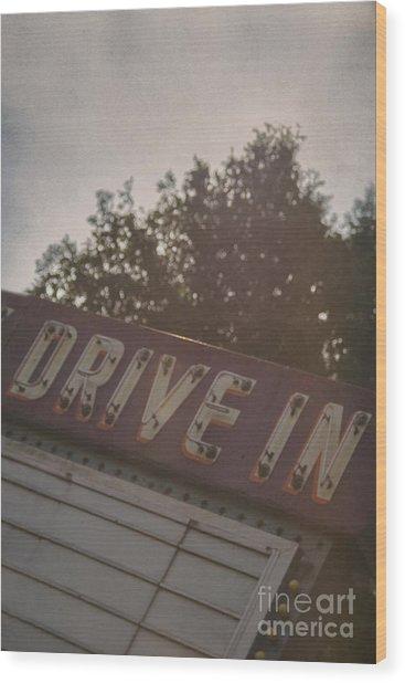 Drive In II Wood Print