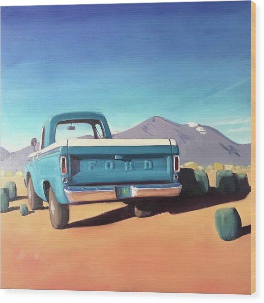 Drive Through The Sagebrush Wood Print