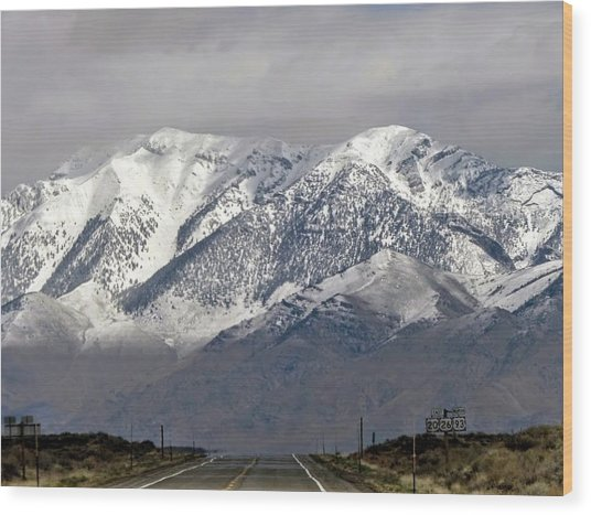 Driving In Idaho Wood Print