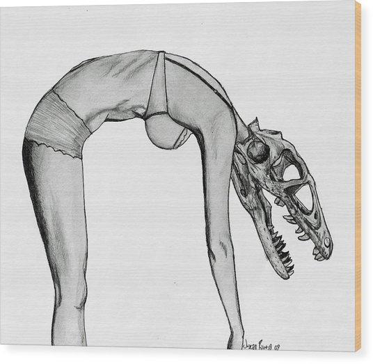 Dromaeosaurus Wood Print