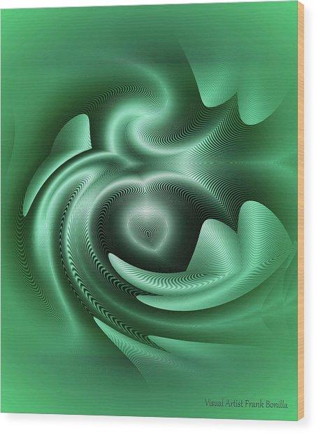 Wood Print featuring the digital art Drone by Visual Artist Frank Bonilla