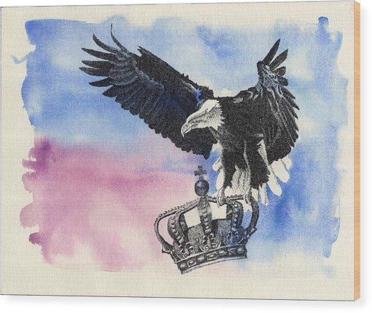 Dropping Royal Crowns Wood Print