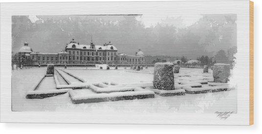 Drottningholm Castle Winter IIi Wood Print by Mikael Jenei