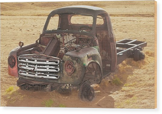 Drought And '51 Studebaker Wood Print