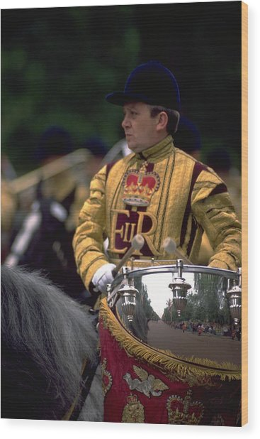 Drum Horse At Trooping The Colour Wood Print