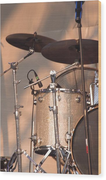 Drum Set Wood Print