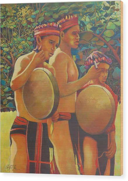 Drumbeat Of The Kalinago Wood Print