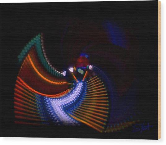 Drummer Dance Wood Print