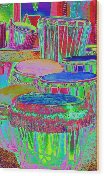Drums Of Change Wood Print by Richard Henne