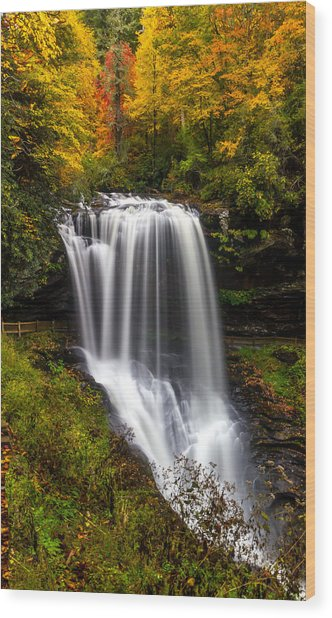 Dry Falls In October  Wood Print