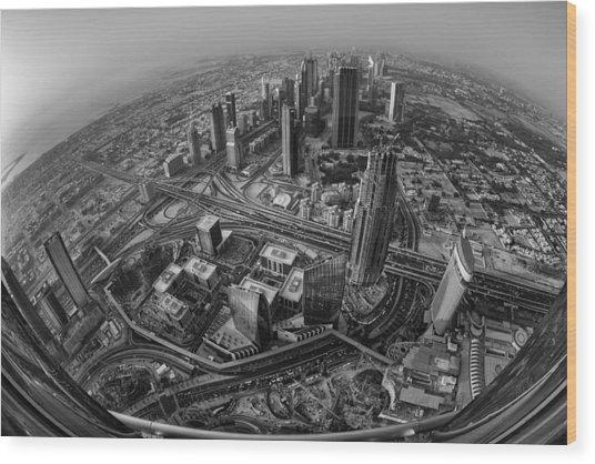 Dubai At The Top Wood Print by Robert Work