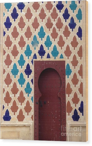 Dubai Doorway Wood Print