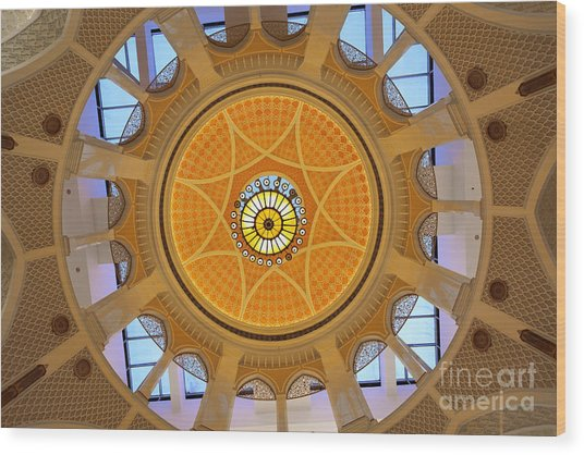 Wood Print featuring the photograph Dubai Mall Dome  by Juergen Held