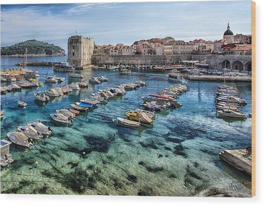 Dubrovnik Croatia - Port Wood Print