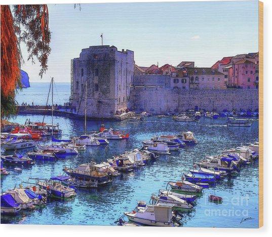 Dubrovnik Harbour Wood Print
