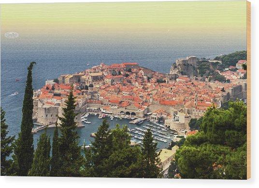 Dubrovnik Old City On The Adriatic Sea, South Dalmatia Region, C Wood Print
