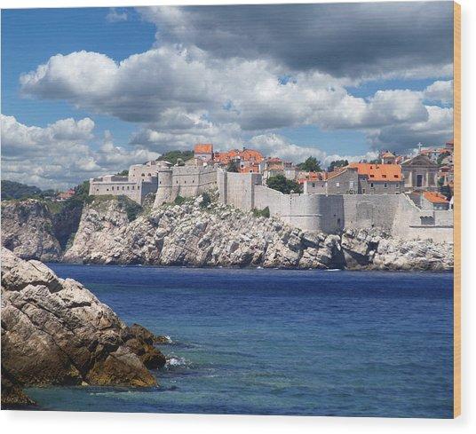 Dubrovnik On The Adriatic Wood Print