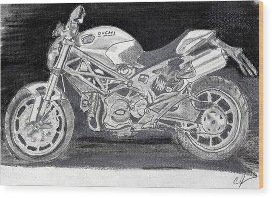 Ducati Wood Print by Cathy Jourdan